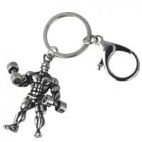 Metal bodybuilding man key chain