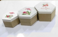 Set of wooden boxes, 3 pieces