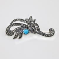 Women's silver brooch