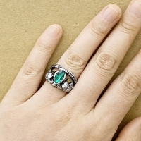 Men's ring studded with stones