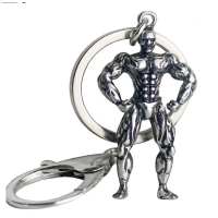 A bodybuilding man's key chain