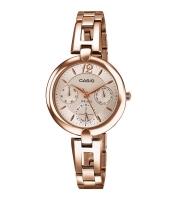 Casio Enticer Analog Rose Gold Dial Women's Watch LTP-E401PG-9AV Time Inventors