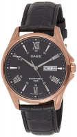 Casio Enticer Men's Analog Black Dial Men's Watch MTP-1384L-1A2V Global warranty Time Inventors