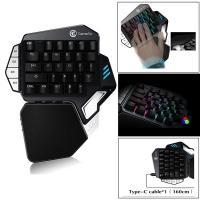 GameSir Mechanical Gaming Keyboard Z1 for PC/Mobile Phone, One-Handed Gaming Keypad with Macro Keys
