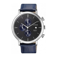 Citizen Men's Black Dial Leather Band Watch AN3610-04H