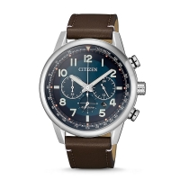 Citizen Men's Chronograph Eco-Drive Watch with Leather Strap CA4420-13L
