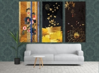 wall paintings - 3 pieces with unique design