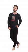 black cotton pajama set for men from Enki