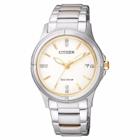 Citizen Eco-Drive Swarovski White Dial Ladies Watch FE6054-54A
