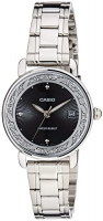 Casio Enticer Analog Black Dial Women's Watch LTP-E120D-1ADF Global Warranty Time inventors