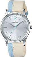 Women's Standard Minimalist Leather Band Silver Dial Watch LTP-E133L-7B1DF Global Warranty Time Inventors
