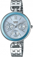Casio Women's Analog Watch Collection Metal Case Blue LTP-E406D-2AVDF Global Warranty Time Inventors