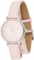 Women's Double Loop Pink Leather Band White Dial Analog Watch LTP-E143DBL-4A2DR Global Warranty Time inventors