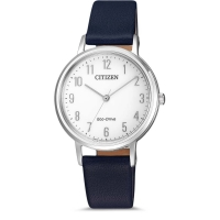 CITIZEN Womens Analogue Quartz Watch with Leather Strap EM0571-16A