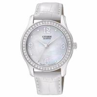 Citizen Women's White Leather Quartz Watch EL3010-05D