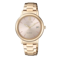 Citizen Analog Gold Dial Women's Watch FE6093-87X