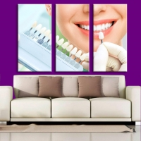 Mural painting 3 pieces suitable for dental clinics