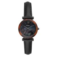Fossil Carlie Mini Black Leather Watch ES4650
