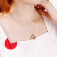 Women's necklace in the shape of the globe