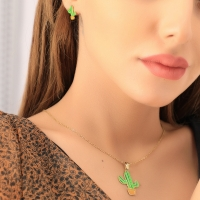 Cactus shaped accessories set