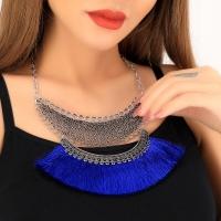 Double layer zinc alloy necklace