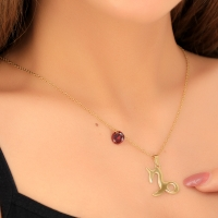 Necklace for women in the form of the symbol of Capricorn