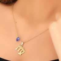 Necklace in the form of the symbol of the Virgo