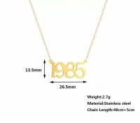 A women's necklace in the form of those born from 1985 to 1988