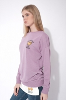 Knitted Sweatshirt - Purple