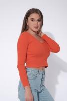 Women's short blouse - orange