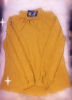 Chiffon mustard shirt
