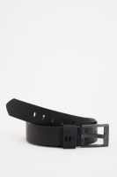 Leather belt for men, black color from Defacto