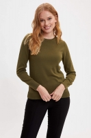 Defacto olive blouse for women