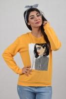 Women sweater - long sleeves - soft cotton fabric