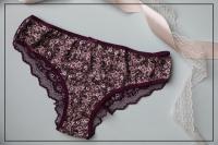 Enki women's pants with a floral pattern