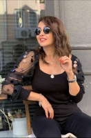 Blouse with long chiffon sleeves - Julie moda