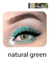 Eye lenses natural green color