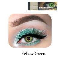 Yellow green eye lenses
