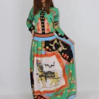 Long-sleeved shirt and long skirt set - Julie Moda