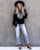 Black Polk Sweatshirt - Julie Moda