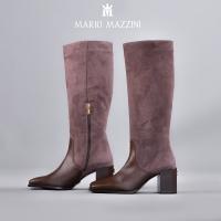 Women's long leg brown shoe - Mario Mazzini
