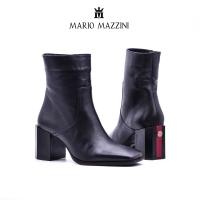 Black long leg women's shoes - Mario Mazzini