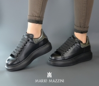 Women's black leather shoes - Mario Mazzini
