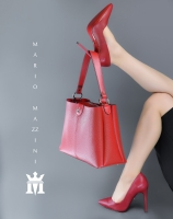 Women's red hand bag - Mario Mazzini
