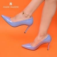 Women's light blue sttileto shoes - Mario Mazzini