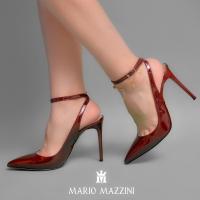 Women's marooni leather sttileto shoes - Mario Mazzini