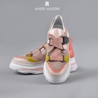 Women's leather pink spor shoe - Mario Mazzini