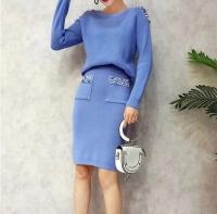 Sky blue skirt and blouse set - Julie Moda