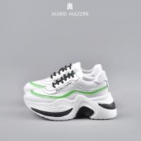 Women's white leather sneaker shoe - Mario Mazzini