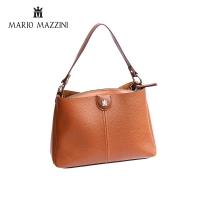 Women's brown leather Handbag- Mario Mazzini